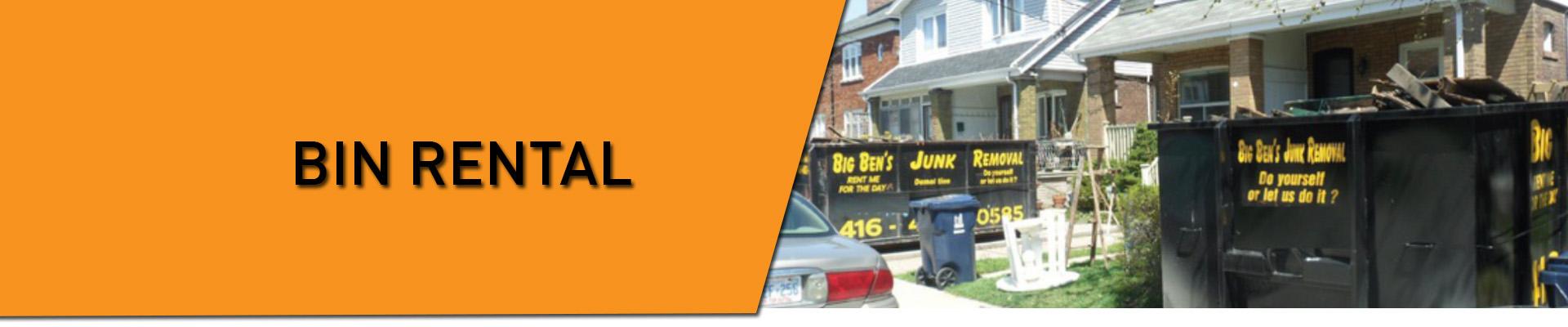 Big Ben's Junk Removal :: Bin Rental